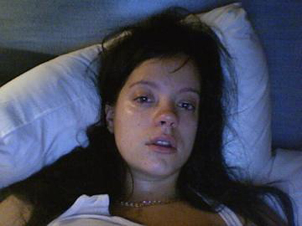 me crying in bed, 2007